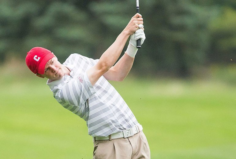 Junior Luke Graboyes finished the weekend at one over par, which proved good enough for 12th place; he has been the Red's most reliable player.
