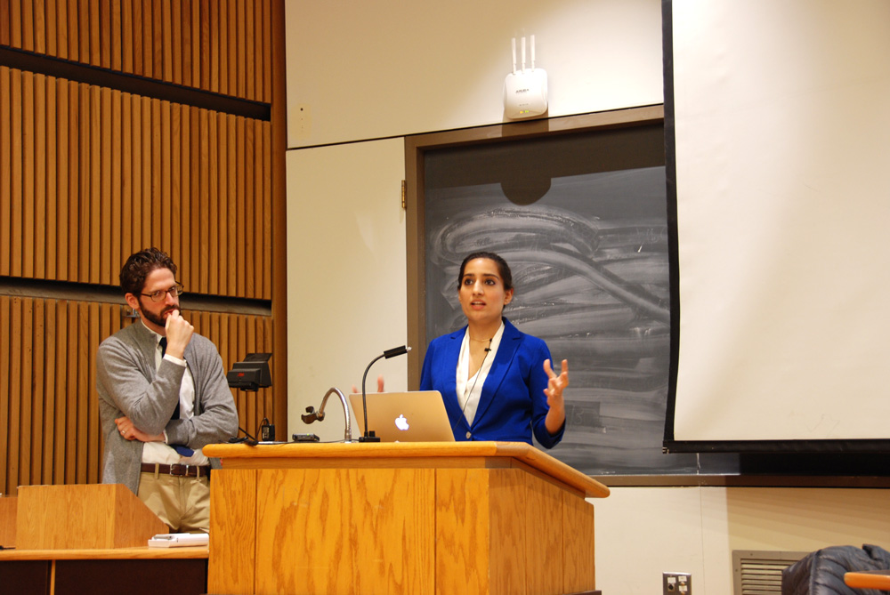 Two speakers from Weill Cornell Medical College advocate for a biosocial approach to medicine at a lecture Friday.