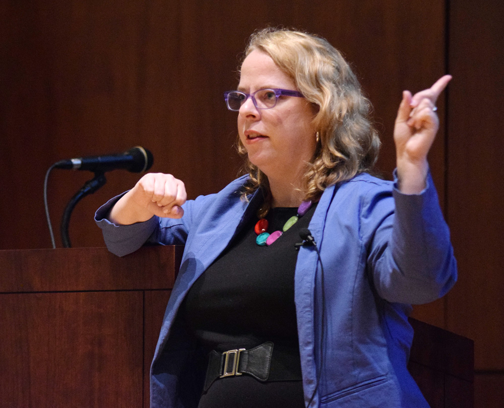 In a keynote address for Sexual Assault Awareness Week, author Kate Harding debunks myths about rape.