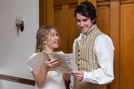 Sandrinne Edstrom as Thomasina Coverly and Cam Wenrich as Septimus Hodge.