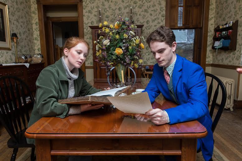 Lily Waldron as Hannah Jarvis and William Champion as Bernard Nightingale.