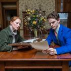 Lily Waldron as Hannah Jarvis and William Champion as Bernard Nightingale.