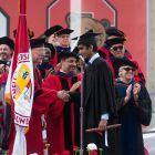 Provost Michael Kotlikoff encourages graduates to remember lessons learned at Cornell in their future endeavors.
