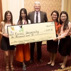 Belen Vila, grad, Jiyu Zhu, MPS '16, doctoral student Michelle Duong and Linran Wang '16 win $10,000 at an Idaho competition.