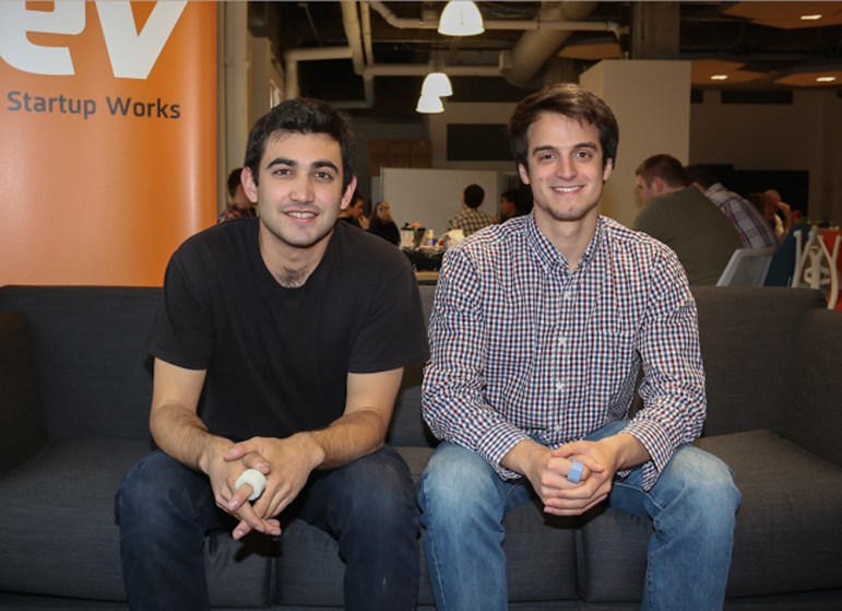 Founders of Specdrums Matthew Skeels '15 M.Eng. '16 (left) and Steven Dourmashkin '15 (right)