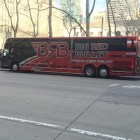 The Big Red Bullet bus service has temporarily suspended its route from New York City to Ithaca.
