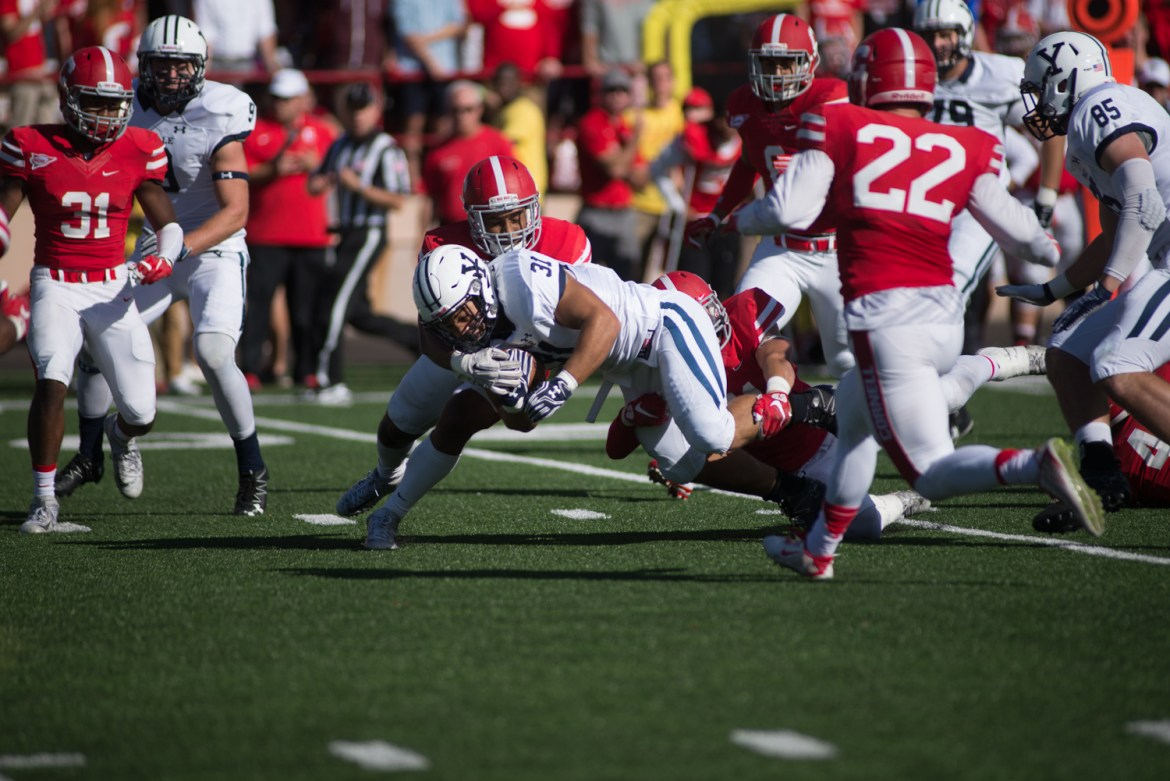 Cornell's defense has impressed this season, but will be put to the test with Colgate's lethal QB Jake Melville.