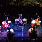 Yamatai performs on Ho Plaza Friday at Cornell's seventh annual Mid-Autumn Festival.