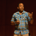 """James Edward Mills discusses the """"adventure gap"""" in a lecture Monday"""