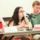 S.A. president Jordan Berger '17 speaks at a Student Assembly meeting earlier this year.
