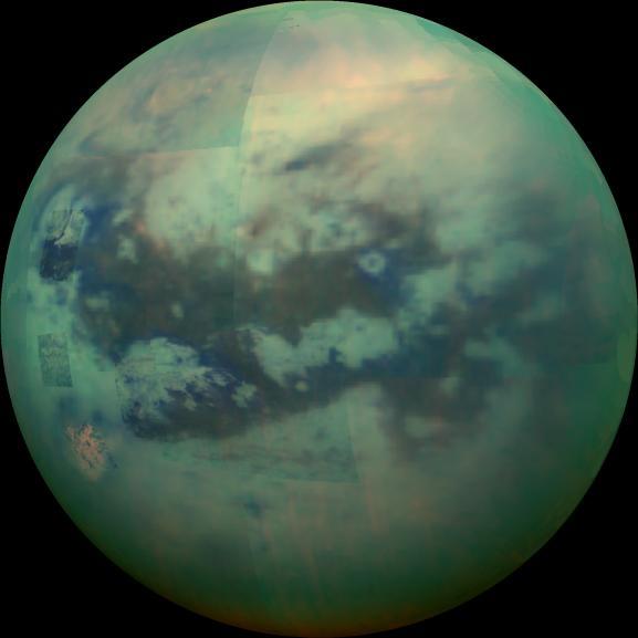 An image of Titan from NASA's Cassini Orbiter
