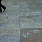 """Chalk art featuring the words """"Repeal Hyde"""" on Ho Plaza on Friday 30 September 2016, as part of an event sponsored by Planned Parenthood Generation Action."""