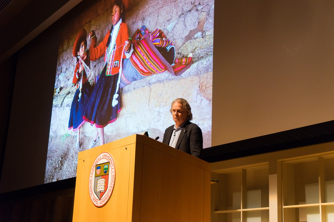 Prof. Wade Davis, anthropology, University of British Columbia, stressed the importance of understanding other cultures at a lecture Friday.