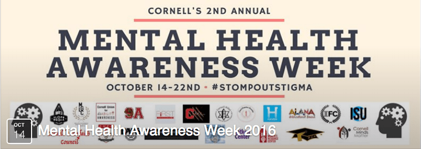 October 12 2016 EARS Mental Health Awareness Week