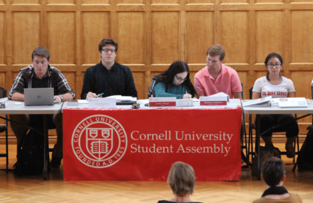 The Student Assembly convenes for their weekly meeting on Thursday evening in the Memorial Room.