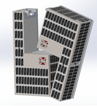 CAD rendering of the CubeSat