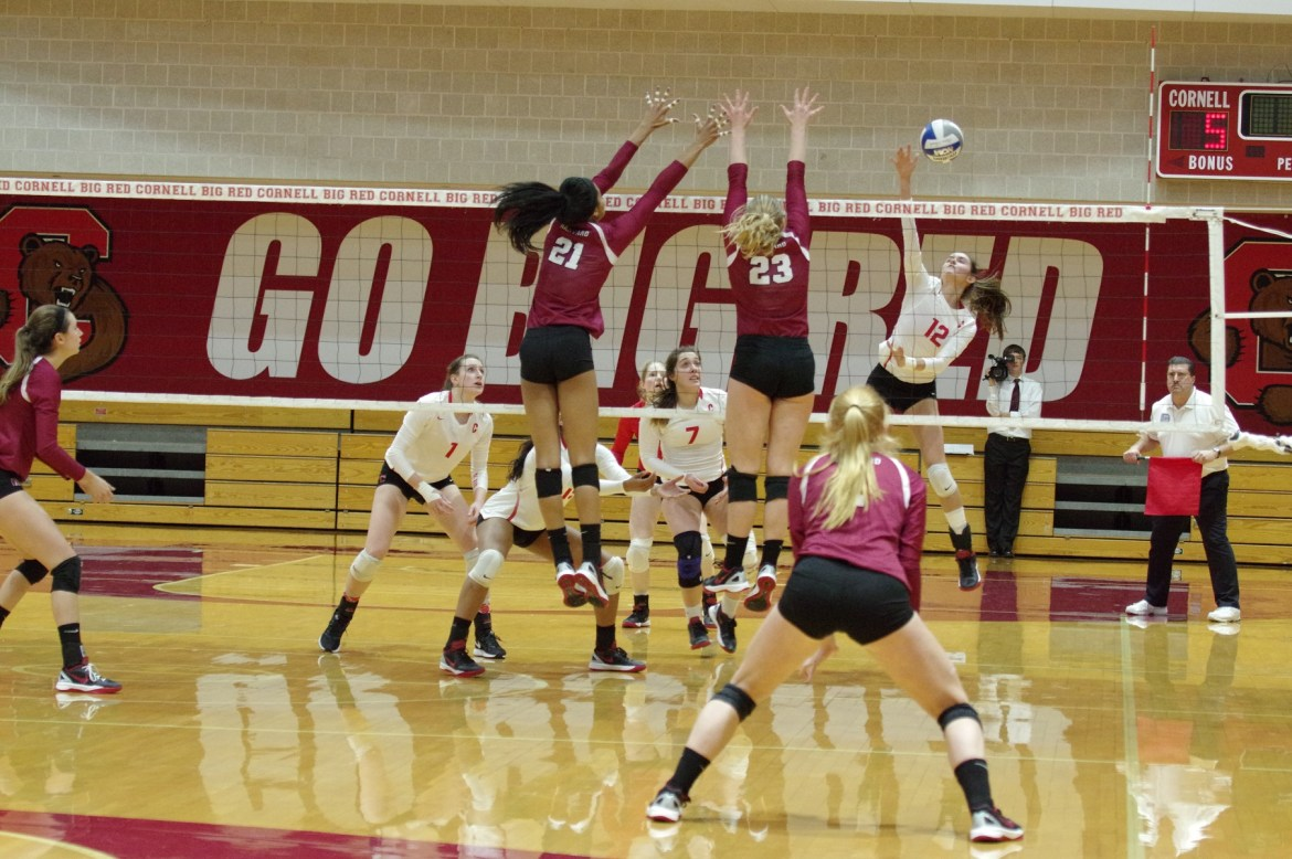 Cornell started strong against Harvard, but was overcome by a late Crimson surge. With a sweep against Dartmouth, the team remains at .500 on the season.
