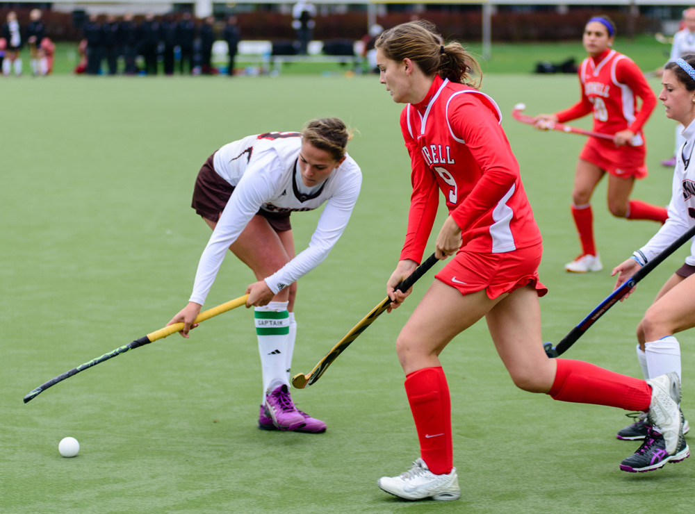 In her final game in a Cornell uniform, senior Luisa Schulte-Bockum scored her first career goal.