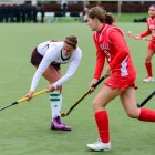 In her final game in a Cornell uniform, senior Luisa Schulte-Bockum scored her first career goal.