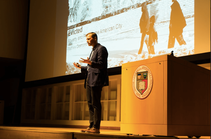 Prof. Matthew Desmond, social sciences, Harvard, talks about the increase of U.S. housing insecurity in the past two decades.