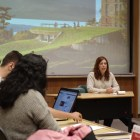 Judicial Administrator Michelle Horvath talks to the GPSA at its meeting on Monday.