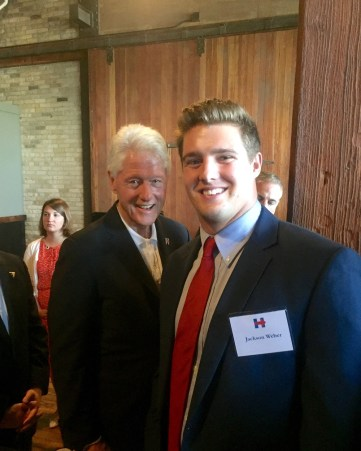 Weber had a chance to meet President Bill Clinton during his time working for Hillary Clintons campaign.