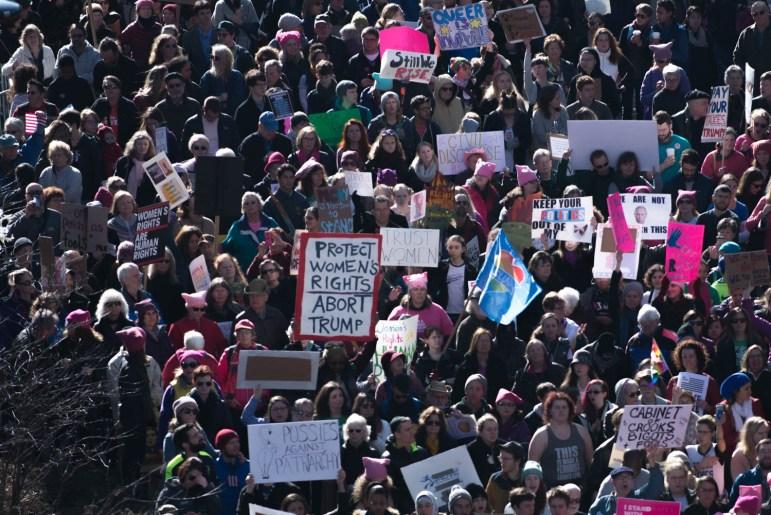 Women's March on Ithaca. Cameron Pollack / Sun Photography Editor