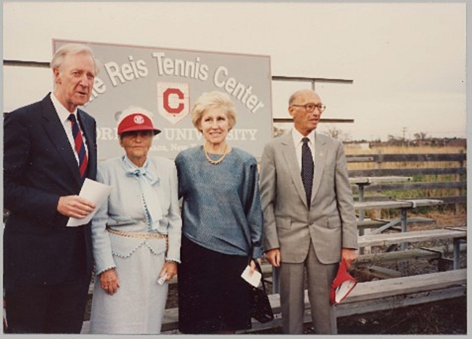 Dale's late parents, L. Sanford Reis and Josephine, also have donated large sums of money to the the tennis program in the past.