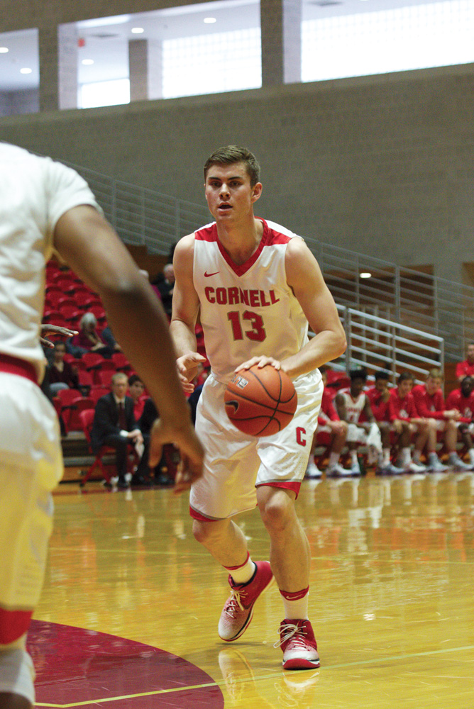 Sophomore Stone Gettings set career-bests in points, rebounds and assists against Brown and Yale.