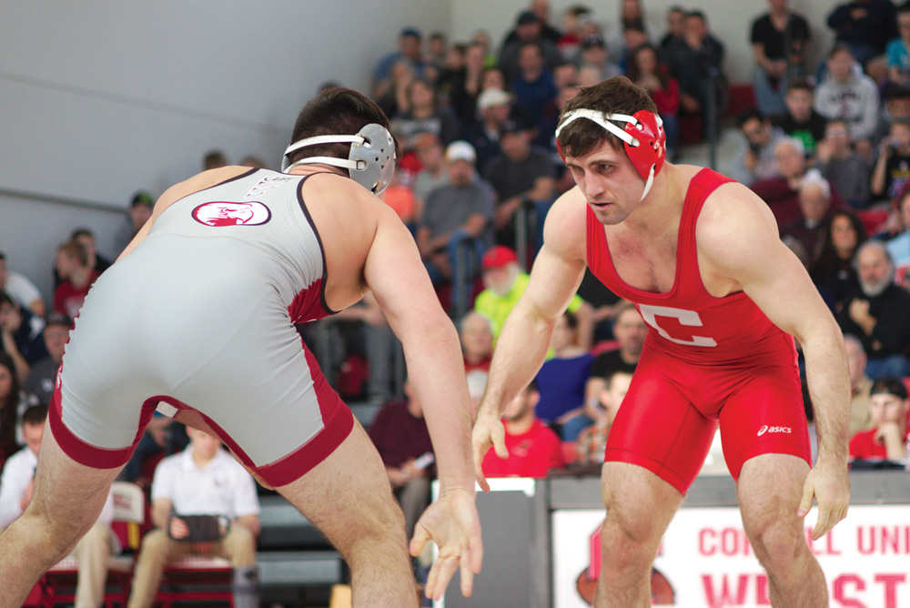Gabe Dean '17, now an assistant coach for Cornell wrestling, posted a 152-7 career record.