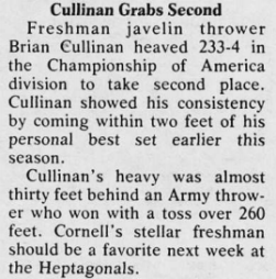 Cullinan '82 was mentioned in the April 30, 1979 edition of The Sun.