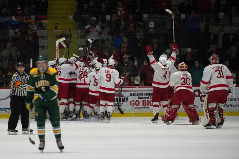 The sweet taste of victory: the men head back to the ECAC championship weekend since its current senior class were freshmen.
