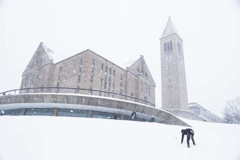 Cornell closed at noon on Tuesday — canceling classes, midterms and prelims — and expects to reopen at noon on Wednesday.