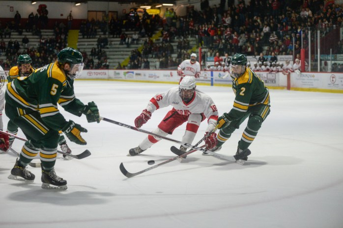 Men's Hockey against Clarkson on Friday, March 10 ( Brittney Chew/ Sun Senior Photographer) Download permissions
