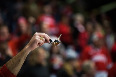 Members of the ever-vocal Lynah Faithful made the trek to Lake Placid, and the car keys came out for Union,
