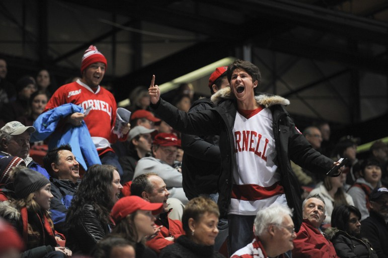 """""""Lynah North!"""" chants broke out, and Cornell hockey fans had their voice heard in Lake Placid."""