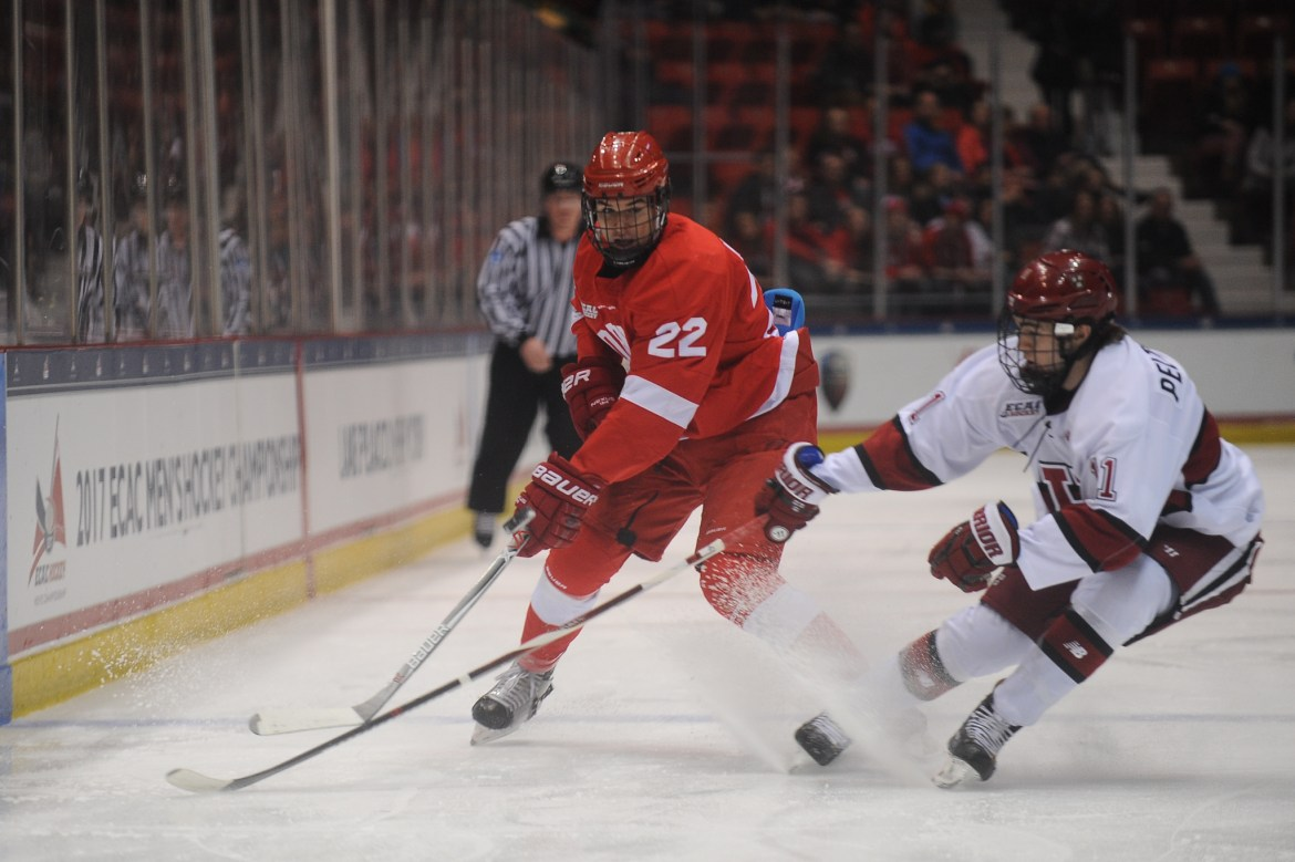 Jeff Malott had the lone goal against Harvard, a team Cornell has been unable to defeat all season.