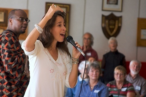 """Maggie Wheeler told the Collegiate Treble Choir Conference over the weekend that it is """"everyone's birthright to sing."""""""