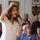"Maggie Wheeler told the Collegiate Treble Choir Conference over the weekend that it is ""everyone's birthright to sing."""