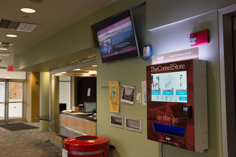 Cornell students now have a new place to turn when in need of chargers, headphones or over-the-counter headache medication.