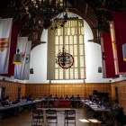 Members of the Student Assembly meet weekly in the Memorial Room, in Willard Straight Hall. Thursday's meeting covered potential issues during concurrent elections between the Student Assembly and student-elected trustees.