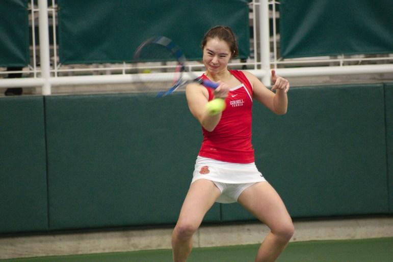 Women's Tennis vs. Penn State on March.4 2017 (Adrian Boteanu/Sun Staff Photographer)
