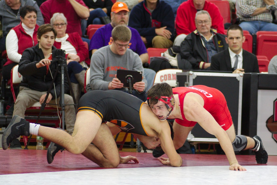 Thee of the six wrestlers from Cornell have advanced to the quarterfinals happening Friday.