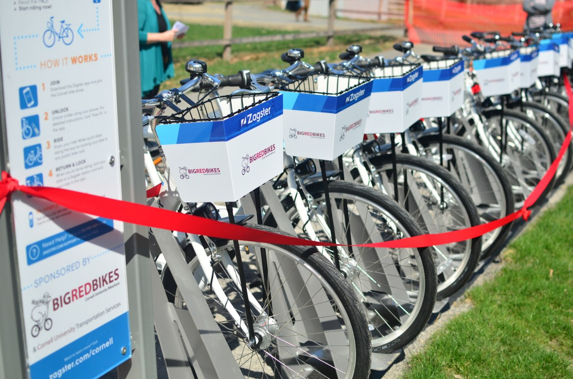 Big Red Bikes hosts a ribbon-cutting kickoff ceremony on Friday April, 14, in the Ag Quad.