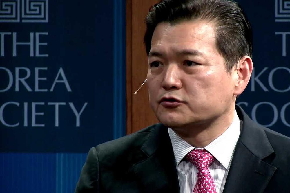 Jung Hoon Lee, South Korean Ambassador for North Korean Human Rights spoke at a lecture Friday.