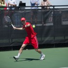 Senior Colin Sinclair's match sealed the Red's first trip to the second round of NCAAs.