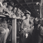 Anne Morrissy Merick '55 became the first woman to be admitted to the press box of the Yale Bowl in 1954.