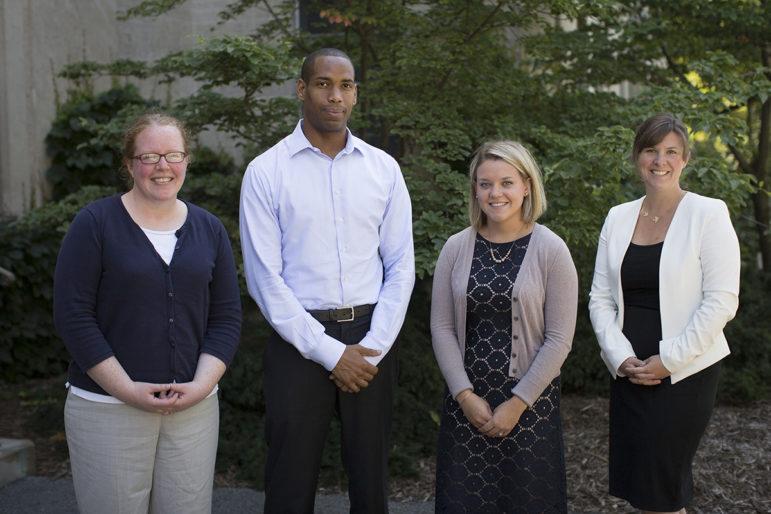 Members of Cornell's Title IX staff as of last August. Doe accused both Investigator Elizabeth McGrath (far left) and Investigator Kareem Peat (mid left) of taking missteps in the Title IX investigation.