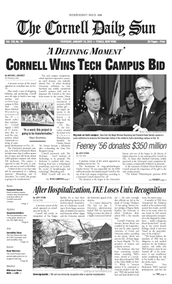 C.U. Wins Tech Campus Bid (01-19-12)