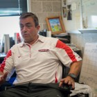 Dwight Hornibrook, Head Coach of Cornell Women's soccer, speaks to the Sun in his office in Bartels Hall, August 24th, 2017.